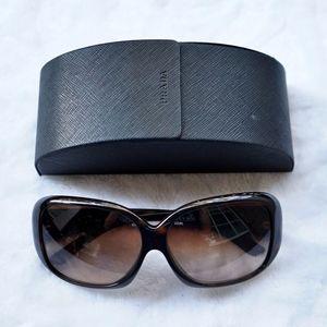 Prada Brown Butterfly Plastic Sunglasses SPR 25N